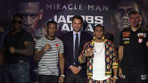 Middleweight boxers Daniel Jacobs (32-2) and Luis Arias