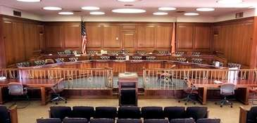 Chambers of the Nassau County Legislature in Mineola.
