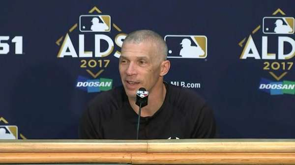 On Wednesday, Oct. 4, 2017, Yankees manager Joe