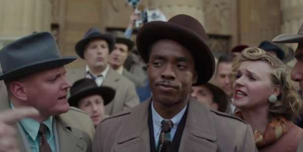 The young Thurgood Marshall (Chadwick Boseman) takes a