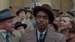 The young Thurgood Marshall (Chadwick Boseman) takes a
