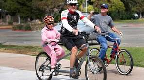 Pauline Lawrence, 94, rides off with Dave White,