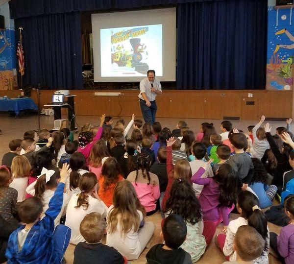 Tamarac Elementary School in Holtsville welcomed children's author