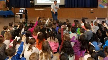 Tamarac Elementary School in Holtsville welcomed children's author