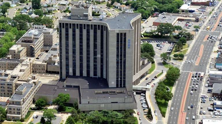 An aerial view of Nassau University Medical