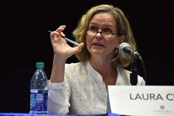 Democratic Nassau County Executive candidate Laura Curran has