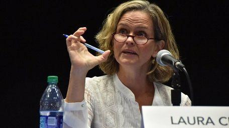 Democratic Nassau County Executive candidate Laura Curran has