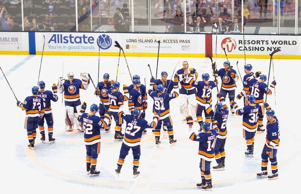 The Islanders returned home to the Nassau Coliseum