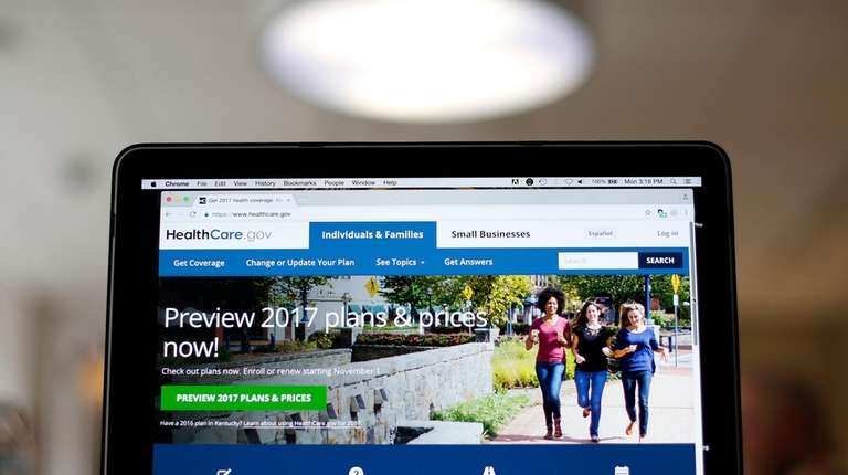 The healthcare.gov website home page.