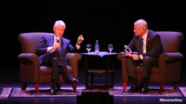 Former President Bill Clinton spoke about wide-ranging global