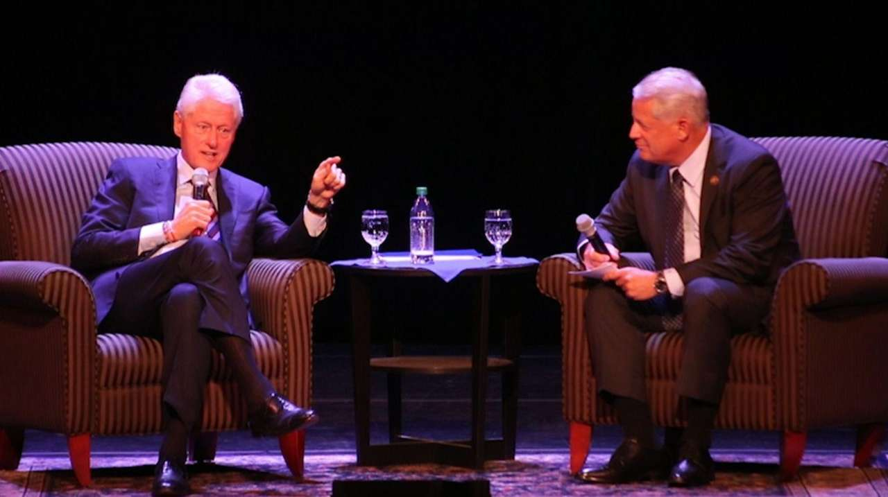 Former President Bill Clinton spoke about wide-ranging global