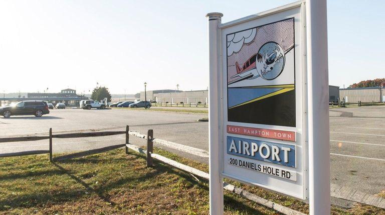 East Hampton Airport in Wainscott, is seen in