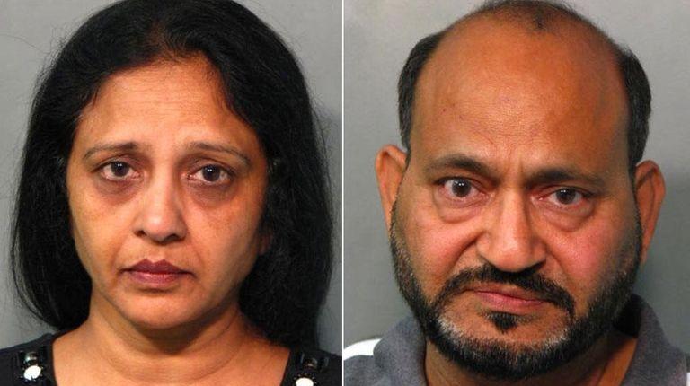 Sunita Shah and Rajesh Shah, both of Albertson,