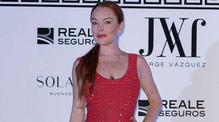 Lindsay Lohan attends the Jorge Vazquez show during