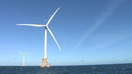 Wind turbines off Block Island.
