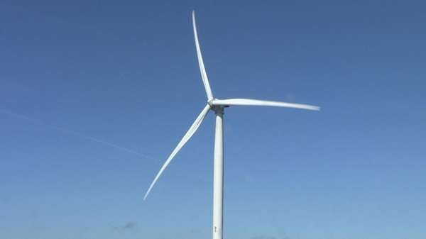 The turbine blades are each 75-meters long --