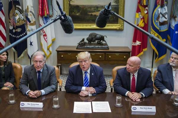 President Donald J. Trump meets with House Ways