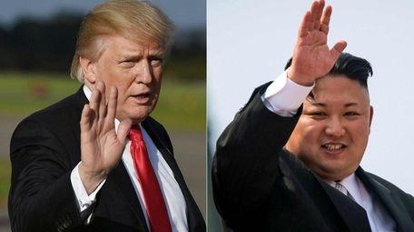 President Donald Trump and North Korean leader Kim