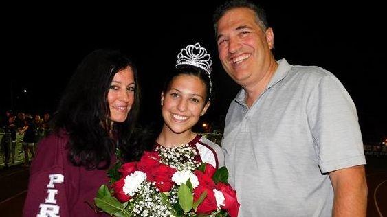 Jordana Bove, center, Mepham High School's 2017 homecoming