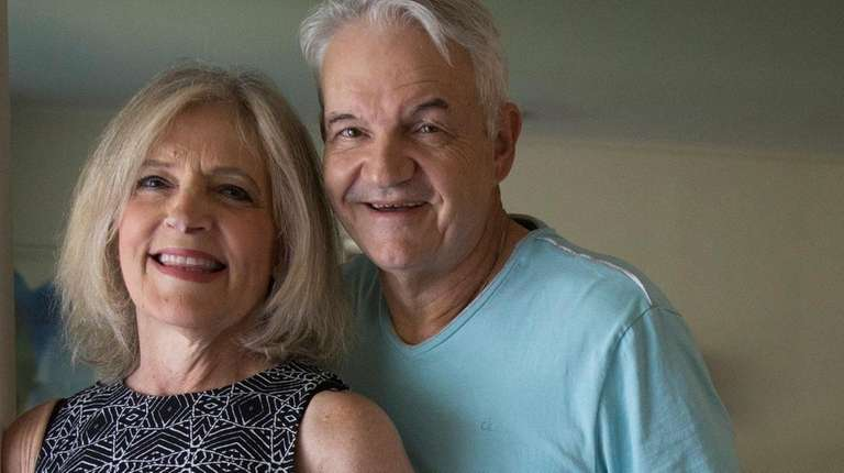 Laura Polen with her husband, Jim, on Wednesday,