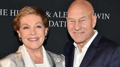 Julie Andrews with Patrick Stewart at the Hamptons