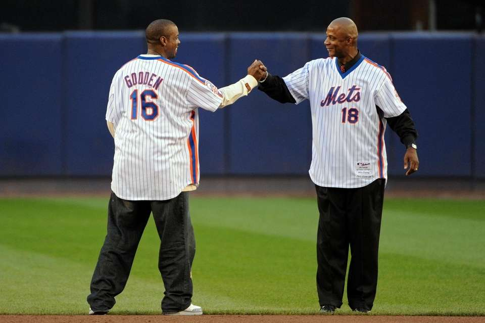 Dwight Gooden and Darryl Strawberry at the last