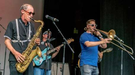 The Scofflaws, a Huntington Ska band performs during