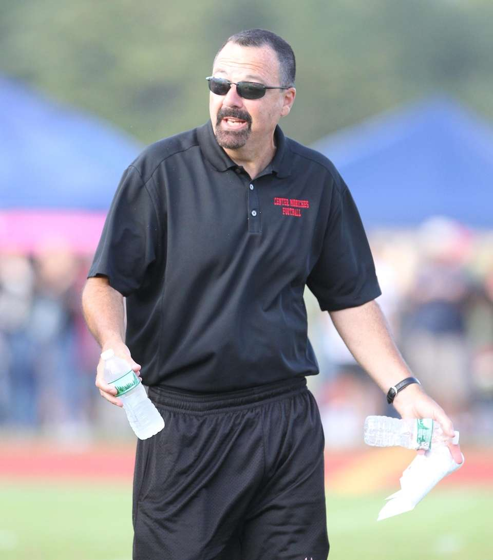 Center Moriches head coach Joseph Reggio during the