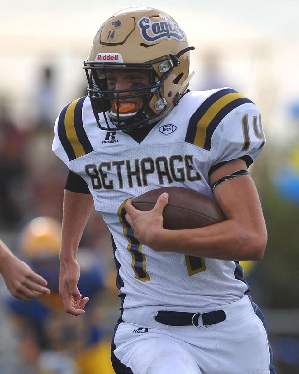 T.J. Kress of Bethpage returns a kick during