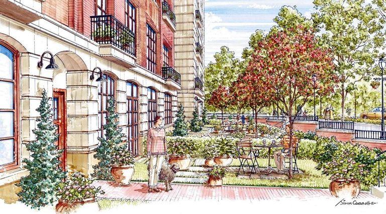 A rendering of The Villa, a 176-unit condominium