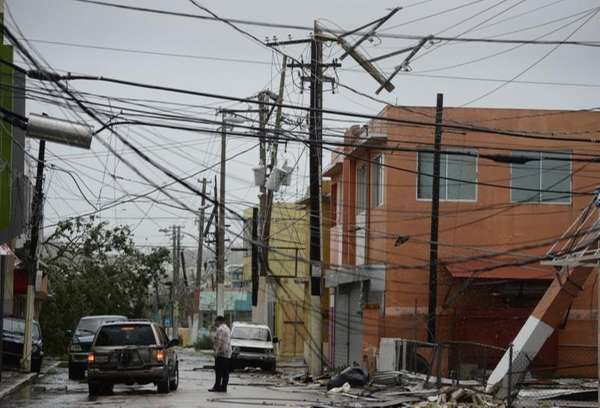 Power lines are down after the impact of