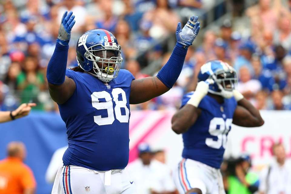 Defensive tackle Damon Harrison #98 of the New