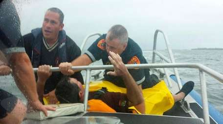 Huntington kayaker Michael Diaz, who was rescued Sunday