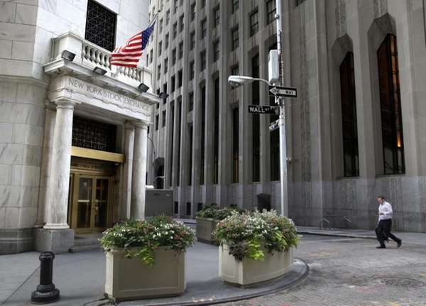 An entrance to the NYSE on Aug. 24,