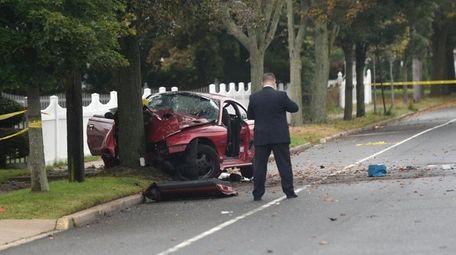Suffolk police investigators at the scene of the