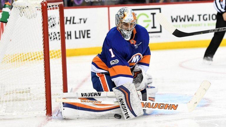 Thomas Greiss goaltender for the NY Islanders making