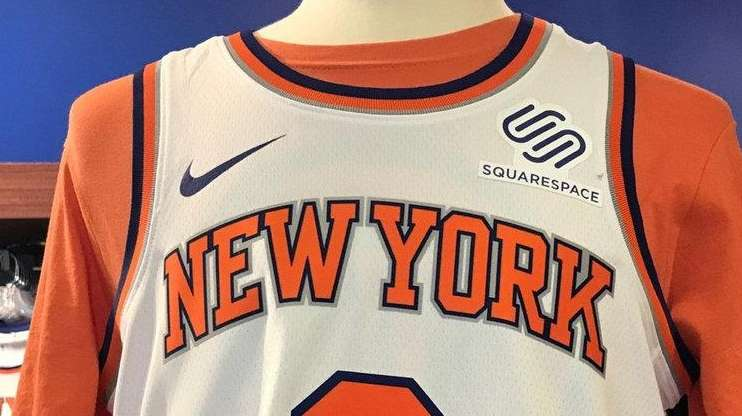 39423ccfa Knicks add Squarespace as team s first jersey sponsor