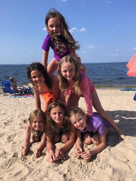 One last pyramid! Anna Miller, Genevieve Decker, Amelia