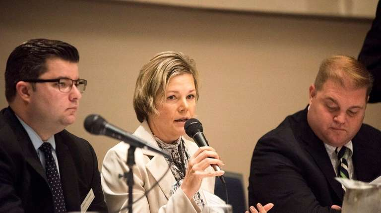 Christine Ippolito, of Compass Workforce Solutions, speaks during