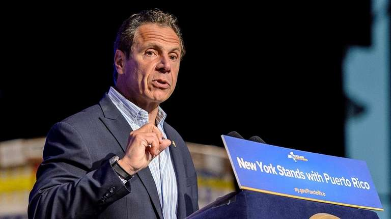Gov. Andrew M. Cuomo, speaking at the Javits