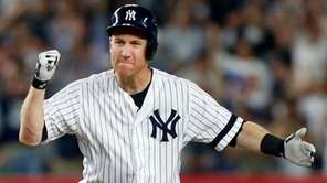 Todd Frazier of the Yankees reacts after his