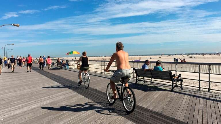 It was a crowded day at Jones Beach,