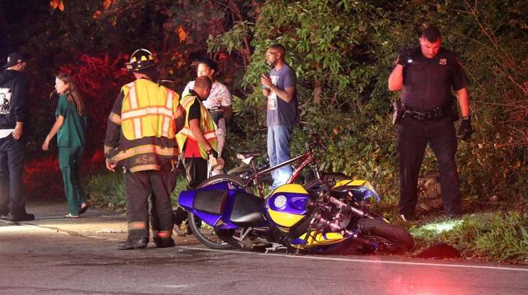 Suffolk County police said the collision occurred about