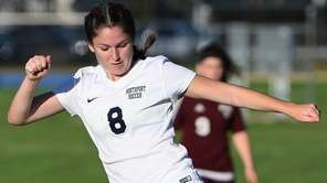Northport midfielder Emily McNelis kicks the ball against
