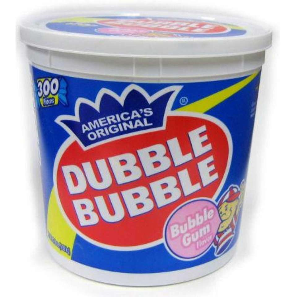 Dubble Bubble Gum: 24,675 pounds