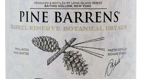 Pine Barrens Barrel Reserve Finished Gin is aged