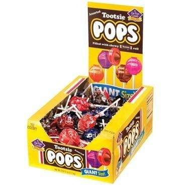 Tootsie Pops: 195,783 pounds