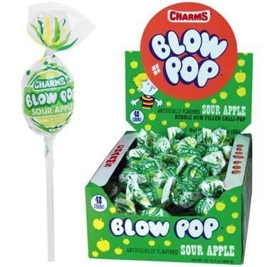 Blow Pops: 43,728 pounds