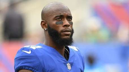 Giants cornerback Dominique Rodgers-Cromartie looks on from the