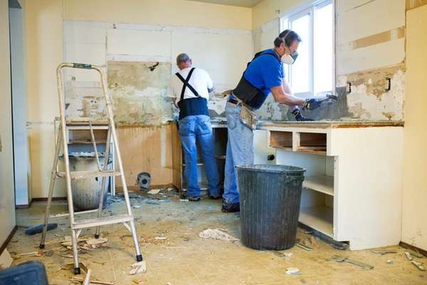 Freshening up cabinets by refacing them is less